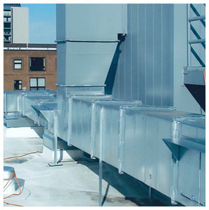 exhaust duct and heat recovery